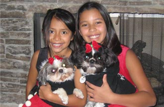 Michelle's Daughters & Dogs Photo
